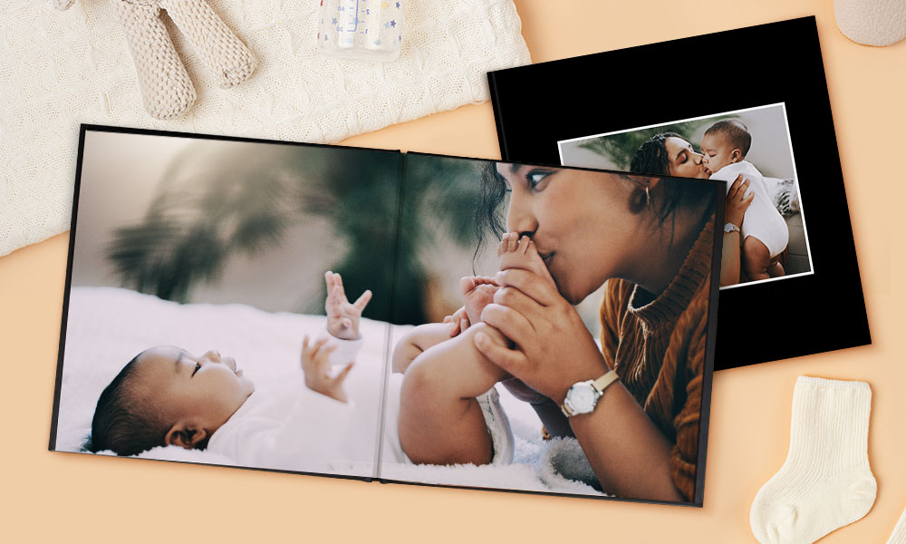 How to Create a Baby Book, Lay-Flat Photo Book SC 1