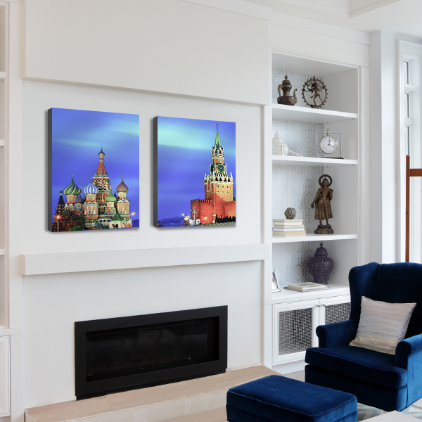 Custom wall decor, split image mounted prints SC1